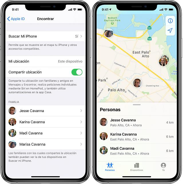 compartir ubicacion iphone con la familia