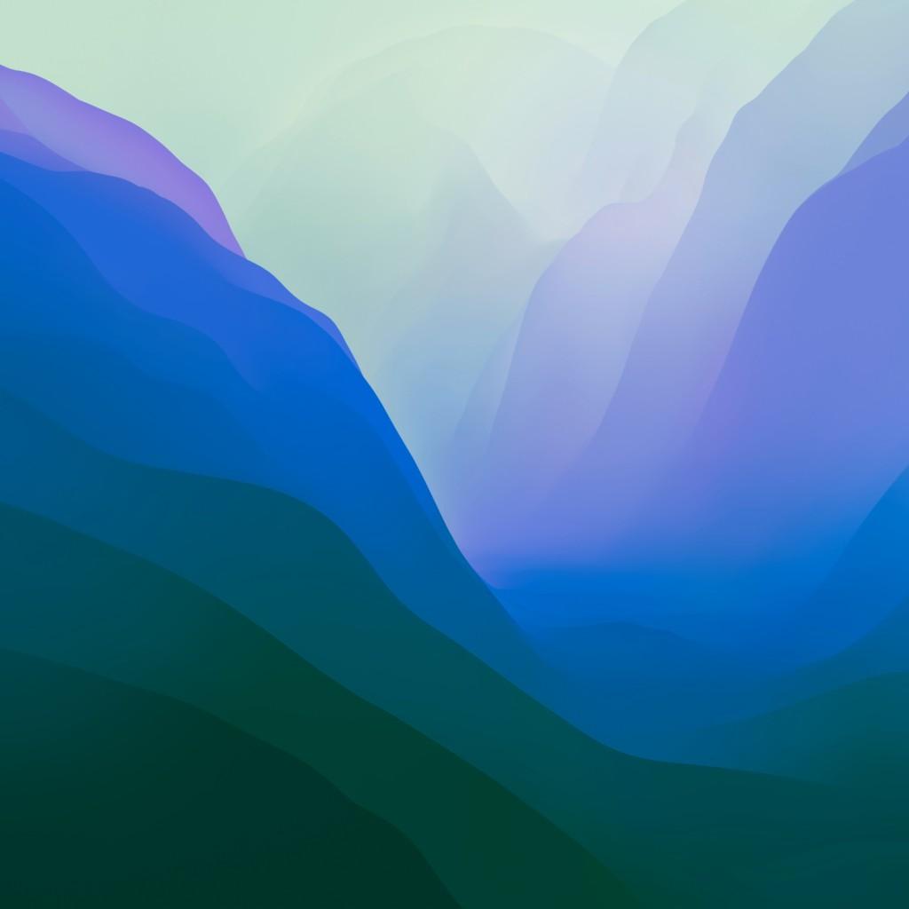 macOS Monterey wallpaper idownloadblog mattbirchler variant 2 blue green