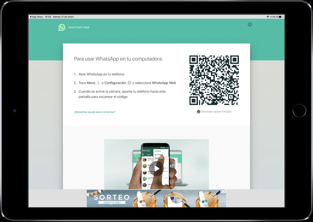 whatsapp para ipad pronto disponible