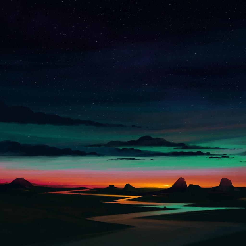 Sunrise wallpaper for iPhone river