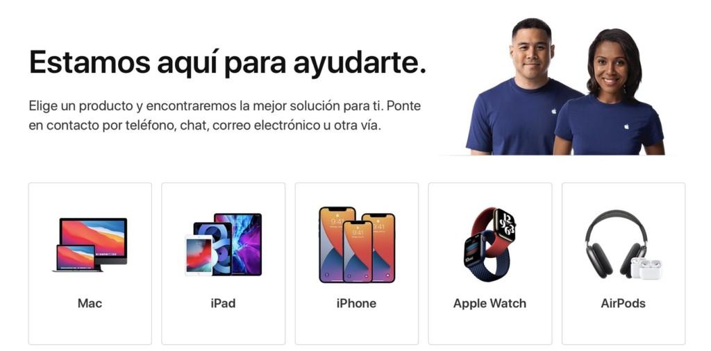 chat atencion al cliente apple espana