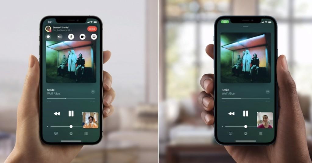 compartir musica videos facetime shareplay iphone ipad