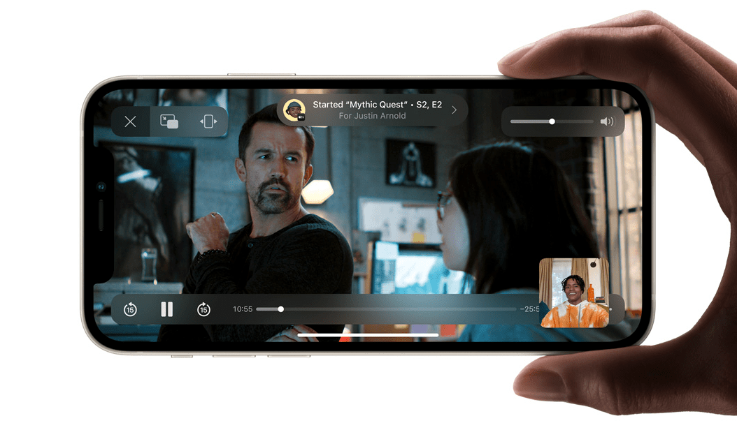 compartir musica videos shareplay facetime iphone