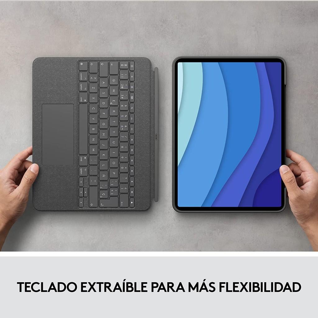 diseno extraible combo logitech touch ipad pro