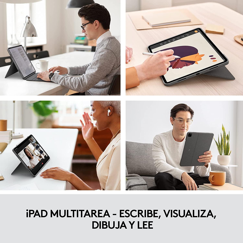 logitech combo touch ipad pro todos los modelos
