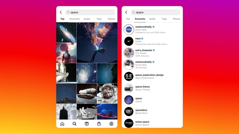 nuevo buscador instagram similar tiktok